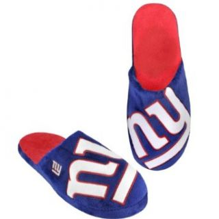 NFL New York Giants 2011 Big Logo Slide Slipper Hard Sole Large : Sports Fan Slippers : Clothing
