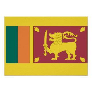 Sri Lanka Flag Poster