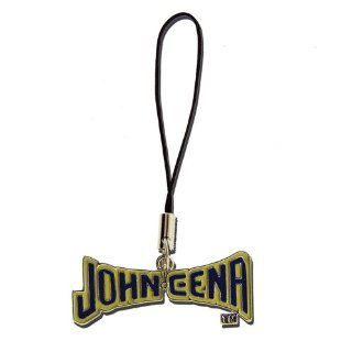 Licensed WWE Cellphone Charm of John Cena Text in Yellow and Blue: Cell Phones & Accessories