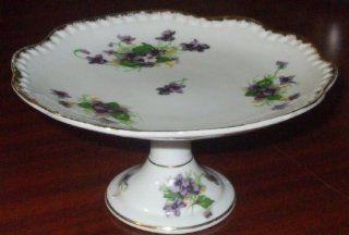 Sweet Violet Vintage Norcrest Pedestal Candy Dish Made in Japan Norcrest China Kitchen & Dining