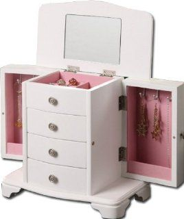 Girls White Jewelry Box Pink Interior: Jewelry