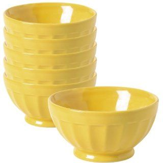 Now Designs Set of 6 Ice Cream Bowls, Yellow: Kitchen & Dining