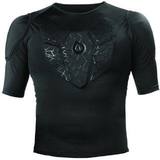 SixSixOne Sub Gear Short Sleeve Adult Undergarment MX/Off Road/Dirt Bike Motorcycle Body Armor   Black / X Large Automotive