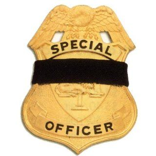 """Black Elastic Badge Shield Mourning Band One Size Fits All 1"""" Size (10 Pack)"""