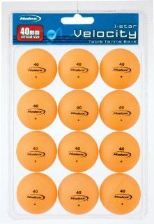 Halex Velocity 1 Star Table Tennis Ball 12 piece Value Pack (Orange): Sports & Outdoors