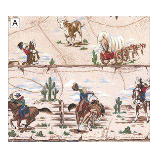 "Dollhouse Wallpaper "" Cowboys in White "": Toys & Games"