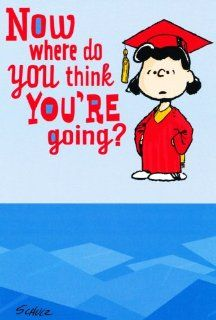 Graduation Greeting Card   Peanuts Lucy Where Do You Think: Health & Personal Care