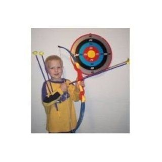 Maxi Sport Toy Archery Bow And Arrow Set With Suction Cup Arrows And Target  Miniature Novelty Toys  Sports & Outdoors