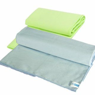(2Packs)Inbox 100% Microfiber Camping Towel, Quick Dry Travel Hand Sweat Workout and Sports Towels 12 x 24 inch(1GRreen)+16 x 32 inch(1Blue) : Sports & Outdoors