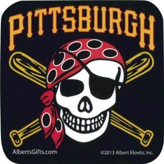 Pittsburgh Pirates Vinyl Coaster (Ships Within 24 Hrs   Excluding Weekends & Holidays): Toys & Games