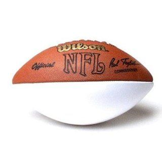 Wilson Official NFL Autograph Football with One White Panel : Sports & Outdoors