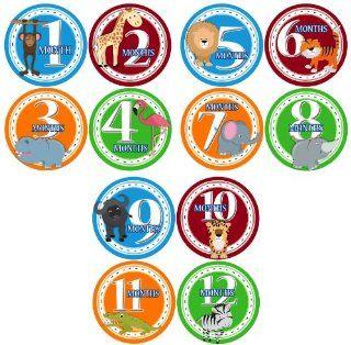 SAFARI ANIMALS BOYS Baby Month Onesie Stickers Baby Shower Gift Photo Shower Stickers, baby shower gift by OnesieStickers  Baby Keepsake Products  Baby