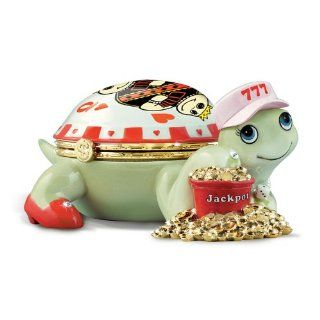 The Queen Of Hearts Turtle Music Box For Casino Lovers by The Bradford Exchange   Jewelry Music Boxes