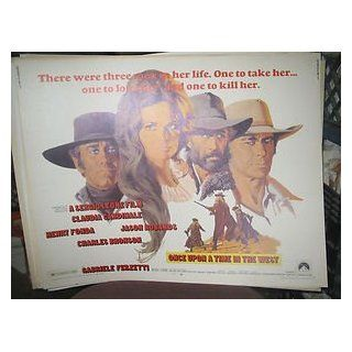 ONCE UPON A TIME IN THE WEST / ORIGINAL U.S. HALF SHEET POSTER (SERGIO LEONE) SERGIO LEONE Entertainment Collectibles