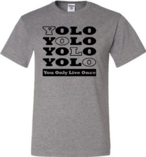 Oxford Adult YOLO You Only Live Once Drake OVO Y.O.L.O. YMCMB T Shirt   S: Clothing