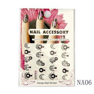 "*Big Promotion Free Shipping(Ship from USA) + Buy 4 Get 1 for Free* Beauty Mall ""Dot & Bow Tie"" Water Nail Tattoo Stickers, Single Pack, Nail Art Sticker, We have 10 Designs Avaliable, Please check the SKU Number on Every Design and feel free"