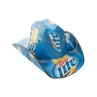 Miller Lite Cowboy Style Beer Box Hat. These Cowboy Style Hats Are Made From Real Beer Boxes and Are Officially Licensed. They Are Made in the Usa and Made with Quality. Think of How Strong Those Boxes Have to Be to Support the Weight of 24 30 Beers Now A