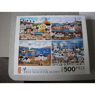 Four Seasons Collection JANE WOOSTER SCOTT PUZZLES SET OF FOUR 500 PIECE JIGSAW PUZZLES Toys & Games