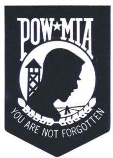 Pow Mia Prisoner of War Missing in Action Outside Mount Sticker Decal: Clothing