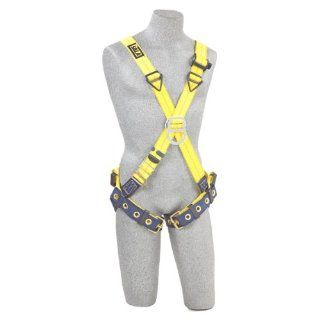 DBI/Sala Delta, 1102950 Cross Over Style Harness, Front And Back D Rings, Tongue Buckle Leg Straps, Universal, Navy/Yellow   Fall Arrest Safety Harnesses