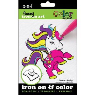 Color My Own Iron On Art Unicorn