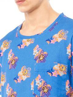 Floral print cotton T shirt  Marc Jacobs