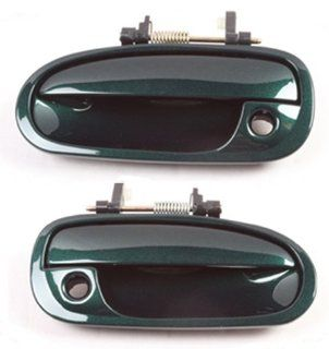 DS182 Clover Green Pearl G95P 96 00 Honda Civic Front Pair Outside Door Handle 96 97 98 99 00: Automotive