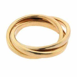 Gold Tone over Sterling Silver Three Band Intertwining Ring Jewelry