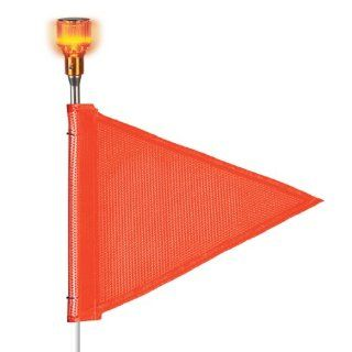 "Flagstaff FS5 Triangular Safety Flag with Light, Threaded Hex Base, 12"" Overall Length, 9"" Overall Width, Orange (Pack of 1): Science Lab Safety Flags: Industrial & Scientific"