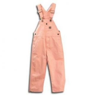 Berne Toddler Girls Bib Overall   Pink: Clothing