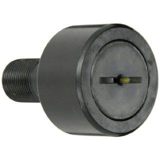 "McGill CF3 Cam Follower, Standard Stud, Unsealed/Slotted, Inch, Steel, 3"" Roller Diameter, 1 3/4"" Roller Width, 2 1/2"" Stud Length, 1 1/4"" Thread Size, 4 9/32"" Overall Length, 1.250"" Stud Diameter Cam Follower Bearings Indus"