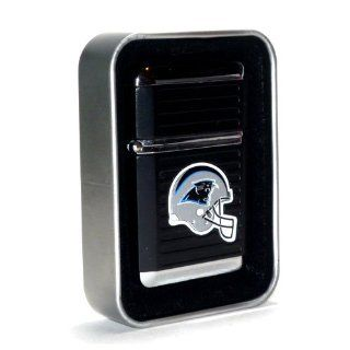 NFL Carolina Panthers Refillable Butane Torch Lighter + Glass Ashtray Combo Gift Set   Please read items descriptions.