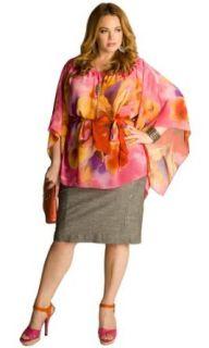 IGIGI Plus Size Kali Tropical Flower Tunic 14/16 at  Women�s Clothing store
