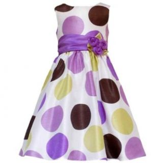 Size 4 RRE 50502E PURPLE GREEN MULTI BIG DOT SHANTUNG Special Occasion Wedding Flower Girl Easter Party Dress, E350502 Rare Editions LITTLE GIRLS: Clothing