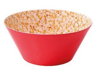 Present Time Popcorn Print Melamine Bowl, Large: Serving Bowls: Kitchen & Dining
