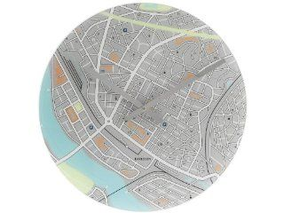 Present Time Karlsson City Map Wall Clock