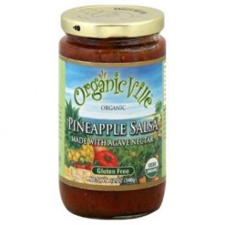 Organicville Salsa Organic Agave Pineapple 16 oz. (Pack of 6) Industrial & Scientific