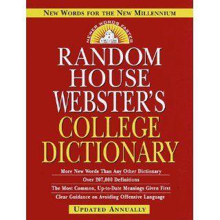 Random House Webster's College Dictionary (9780375407413) Random House Books