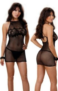 Plus Size Sexy See Through Chemise Lingerie Set   Queen Size: Clothing