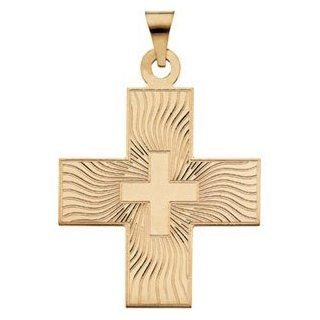 14K Yellow Gold Greek Cross Pendant: Reeve and Knight: Jewelry
