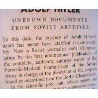 The Death of Adolf Hitler Unknown Documents from Soviet Archives. Leo Bezymenski Books