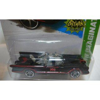 "Hot Wheels   Classic TV Series BATMOBILE (Black w/Red thin Stripes & ""Red Batman Logo"")   HW Imagination 2013   62/250 [Scale 1:64]: Toys & Games"