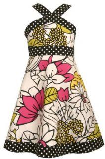 Bonnie Jean Girls 7 16 White/ Black Sundress With Bright Print, Multi, 7 Dresses Clothing