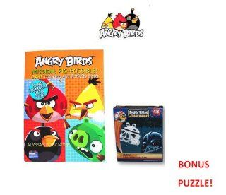 Angry Birds Coloring and Activity Book   MISSION PIG POSSIBLE and BONUS Star Wars 48 Piece Puzzle Pack: Toys & Games