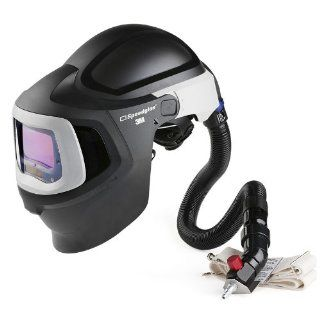3M(TM) Speedglas(TM) Fresh Air III Supplied Air System with V 300 Air Regulating Valve and Speedglas Welding Helmet 9100 MP with Hard Hat, Side Windows and Large Size Auto Darkening Filter 9100X  Shades 5, 8 13, Model 27 5902 20SW Safety Respirator Cartri