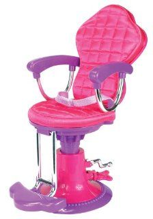 Doll Chair, Salon Doll Chair fit for 18 Inch American Girl Doll Bed Room, Doll Furniture Provides a Perfect Doll Salon Chair for Brushing your Dolls Hair: Toys & Games