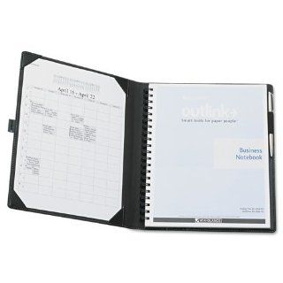 AT A GLANCE Outlink Products   AT A GLANCE Outlink   Notebook w/Spiral Perforated Task Pad, Simulated Leather, Slide Out Panel, Black   Sold As 1 Each   Task PadTM organizes your notes for easy transfer to computer.   Document tray provides a hard writing