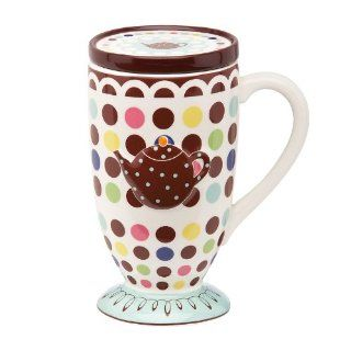 Gorham Merry Go Round Polly Put The Kettle On Mug(s) With Coaster/Lid: Kitchen & Dining