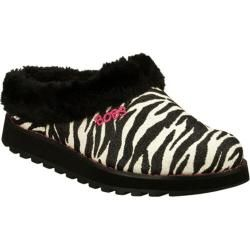 Women's Skechers BOBS Keepsakes Jungle Black/White Skechers Women's Slippers