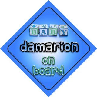Baby Boy Damarion on board novelty car sign gift / present for new child / newborn baby Baby
